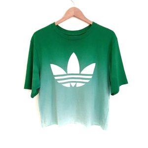Adidas Green Mint Graphic Crop Oversized T-Shirt